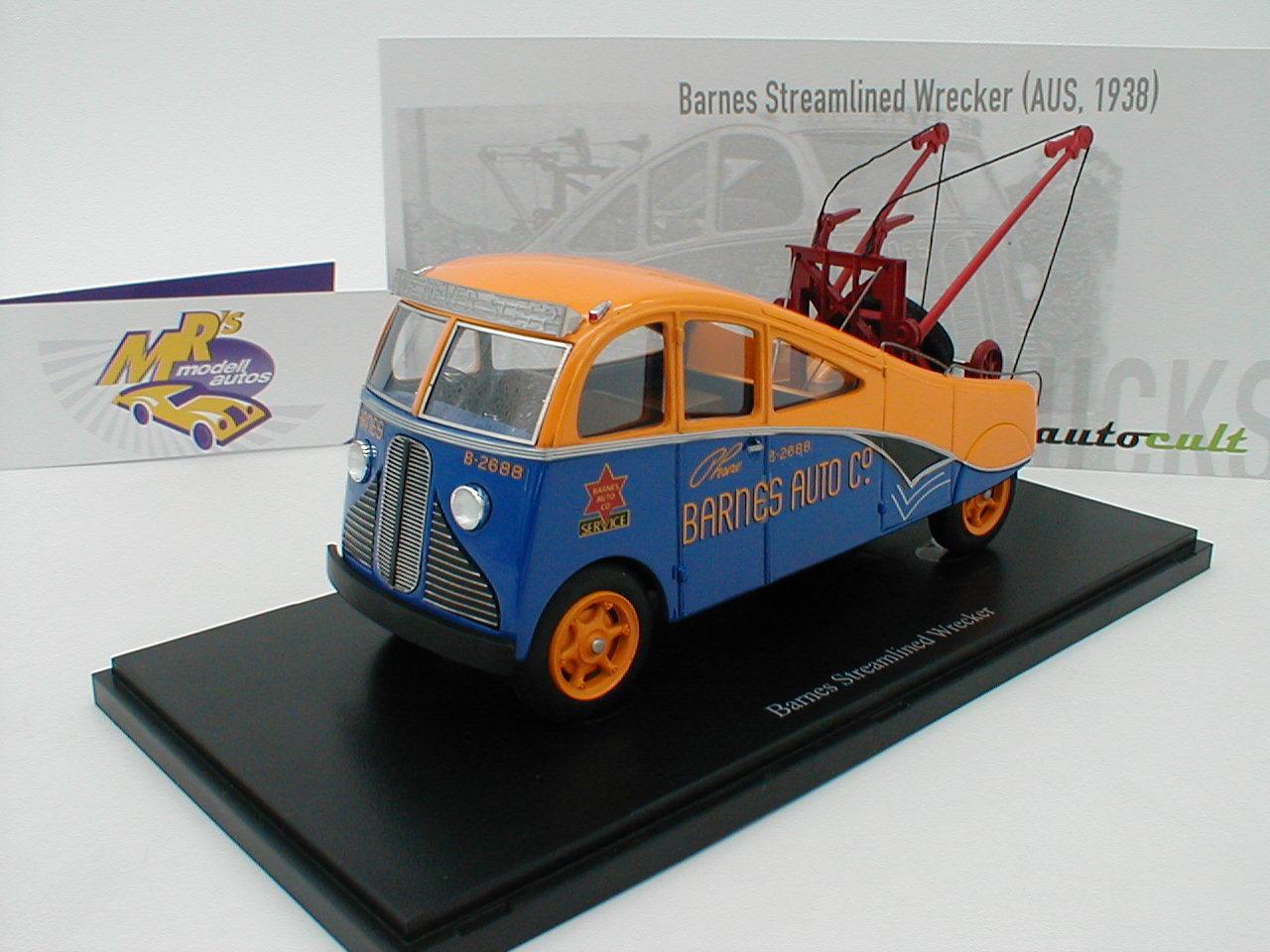 Te  er un un un voeu Autocult 11004-Barnes strealined WRECKER année modèle 1938