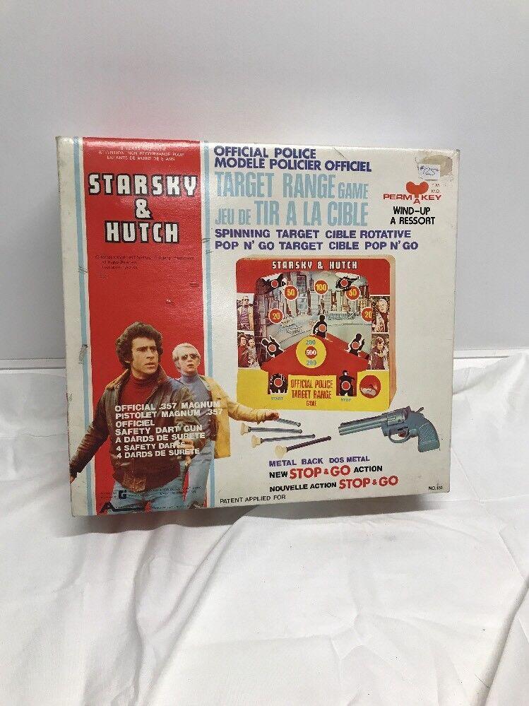 Vintage 1977 Estrellasky y Hutch policía rango objetivo no Juego Completo Con Caja De Trabajo