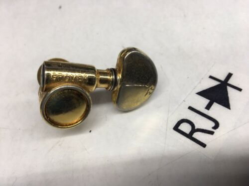60's Grover USA Rotomatic Tuner Tuning Machine Key Peg Head Gold Bass Side