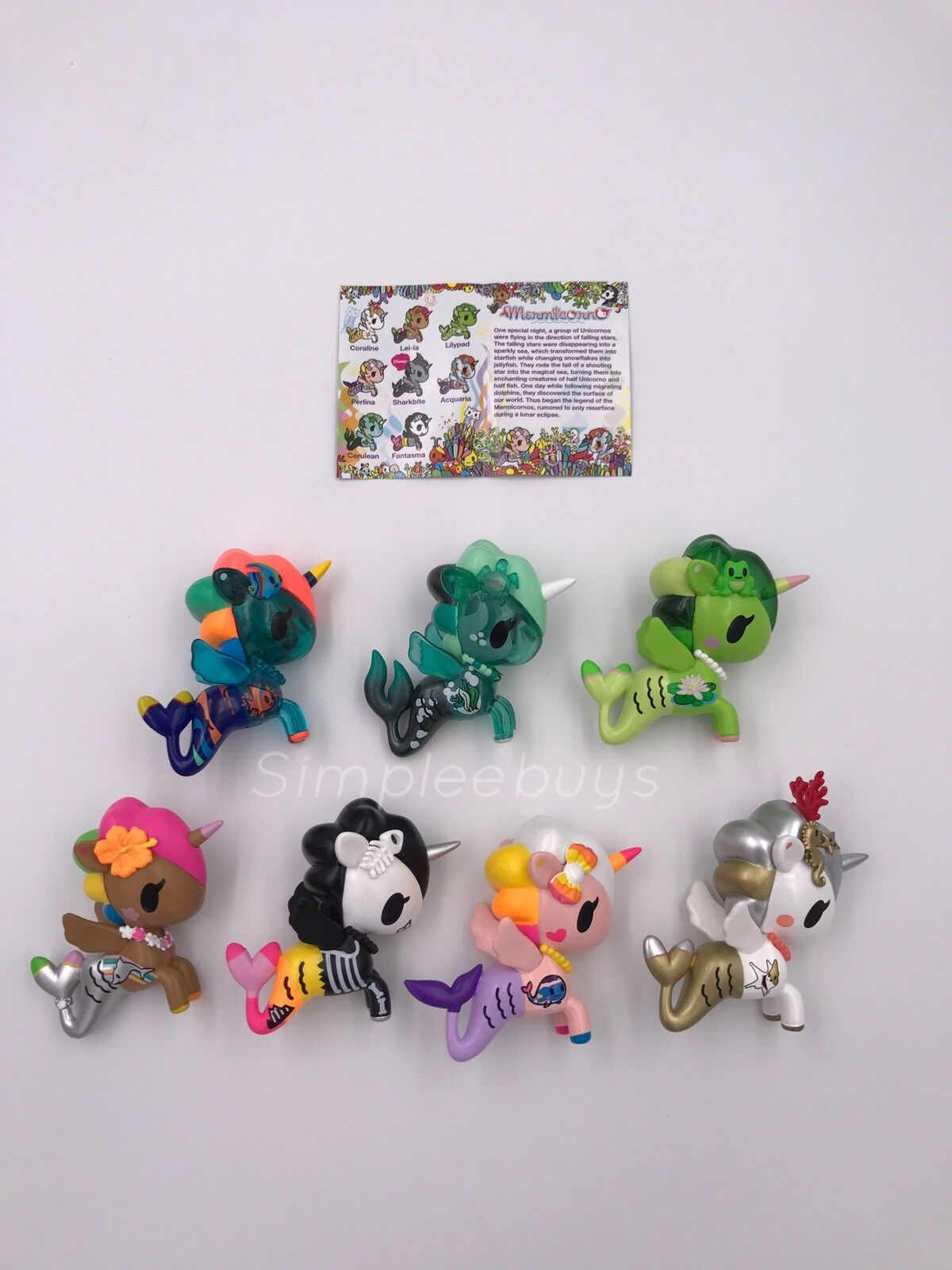 Tokidoki Mermicorno Series 2 Blind Blind Box  Set Of 7 Without Chaser