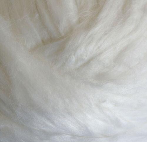 reinweiß glänzend 100g zum Filzen und Spinnen Kammzug 100 /% Viskose im Band