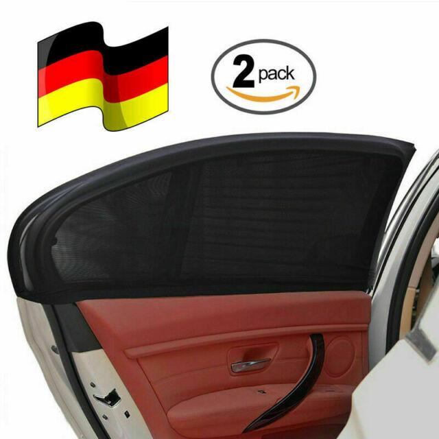 Heckscheibe 2x HUKITECH Auto Sonnenschutz Rollo Sonnenrollo für Seitenfenster