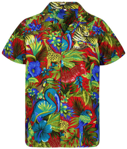 Funky Hawaii Camicia Jungle VARI COLORI