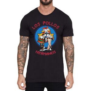 New-Men-039-s-Funny-Los-Pollos-Hermanos-T-Shirt-Cotton-Short-Sleeve-Tops-Summer-Tee