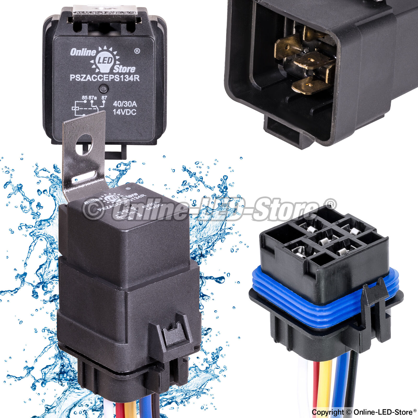 Prime Amp Waterproof Relay Switch Harness Set Ols 4030 12V Dc 5Pin Spdt Wiring Cloud Hisonuggs Outletorg