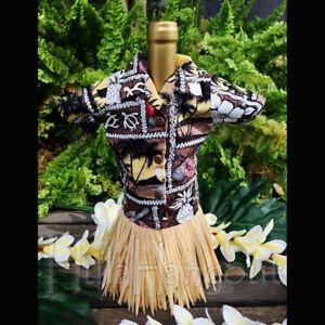 Wine Bottle Gift Outfit Tropical Hawaiian Shirt #7