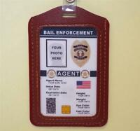 Bail Enforcement Agent Id Badge >customize With Your Photo & Info< Bounty Hunter