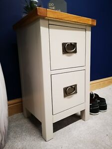 Grey Bedside Cabinet Narrow Painted