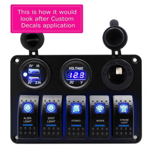 5 Gang Car Boat Marine Switch Panel With Voltmeter /& Fuse Box UK 12V LED Rocker