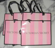 Victorias Secret Gift Bag Lot of 5 Medium Pink on Pink Stripe