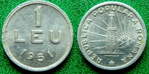 1 Leu 1951 Romania Coin Low Shipping Combine FREE!