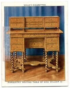 1690s-King-William-III-Marquetry-Writing-Table-England-Funtiture-1930s-Ad-Card