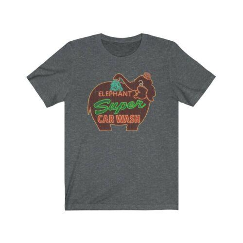Elephant Super Car Wash 1956 Vintage Men/'s T-Shirt