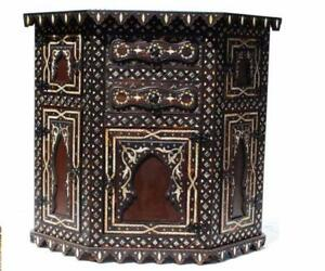 Etonnant Image Is Loading Moroccan Wood And Bone Inlay Cabinet