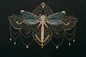 Counted-Cross-Stitch-Kit-Golden-Dragonfly