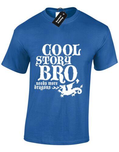 Cool story bro hommes t shirt funny game of thrones design khaleesi jon snow tee