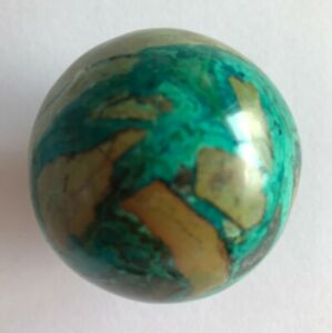 Stunning-Blue-Green-Chrysocolla-Polished-Sphere-4-5cm-1-8inch-diameter-BE-0029