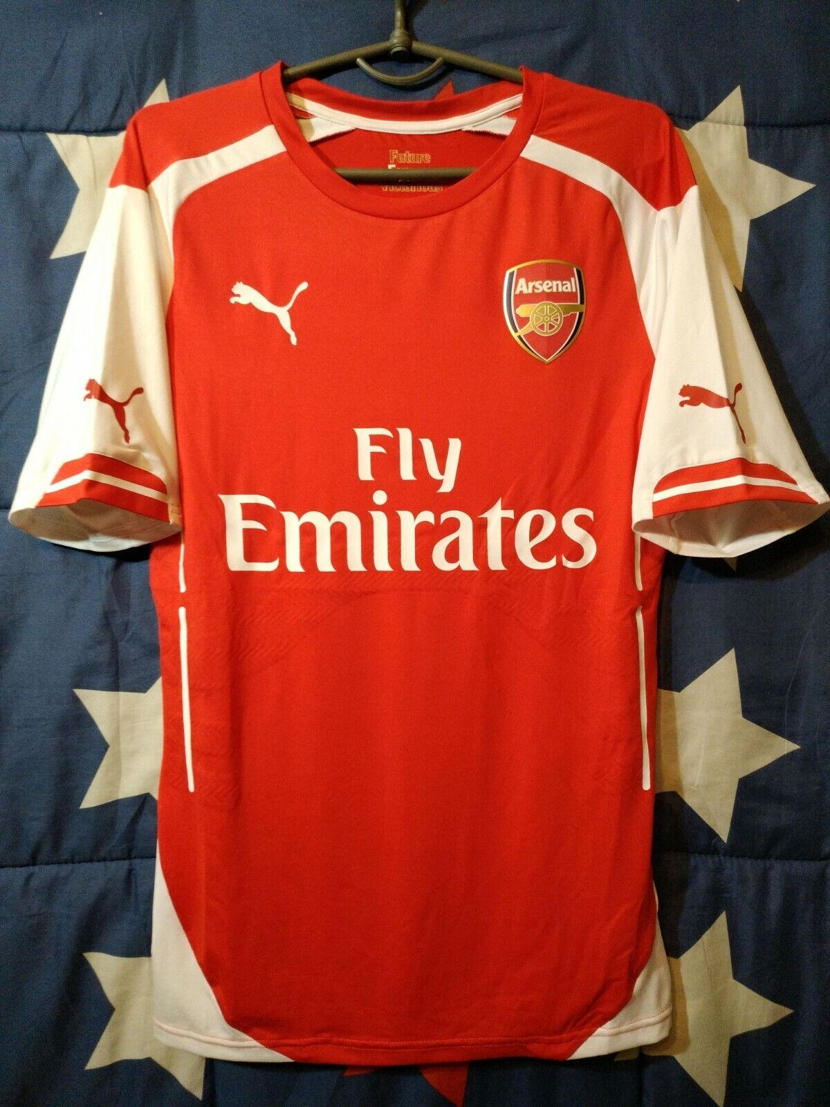 PLAYER ISSUE ARSENAL 2014-2015 HOME FOOTBALL SHIRT JERSEY PUMA SIZE L