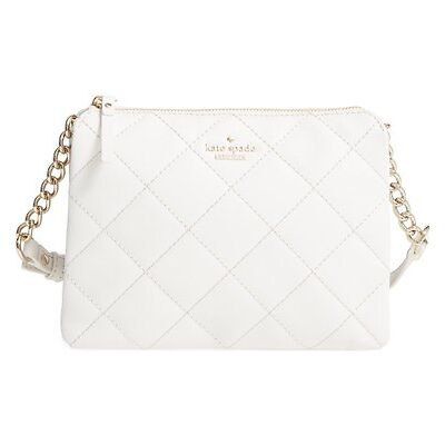 Kate Spade New York Emerson Place Harbor Leather Crossbody Shoulder Bag (Cement)