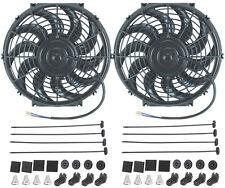 "DUAL 12"" INCH ELECTRIC FANS 12 VOLT AUTO RADIATOR COOLING FAN 80W MOTOR 1400 CFM"