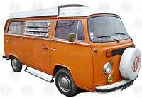 Deluxe Aluminium Side Step for VW T2 Split & Bay camper van & Fitting Kit C9037