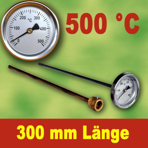 Backofenthermometer  Ofenthermometer Thermometer 500°C mit Tauchrohr 300 mm