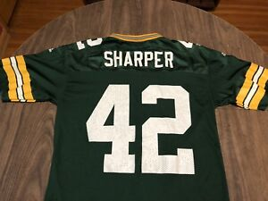 promo code 86923 ff823 Details about Vintage Darren Sharper 42 Green Bay Packers Medium adidas NFL  Football Jersey