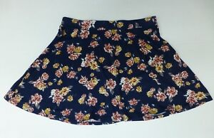 LA-Hearts-Womens-Size-L-Blue-Multi-Color-Floral-Skirt-Great-Condition