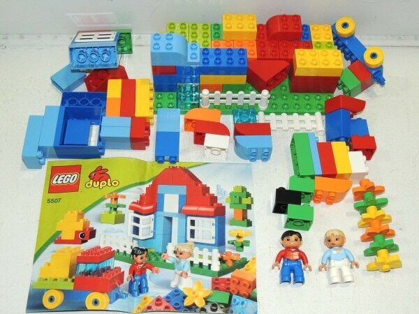 Lego Duplo 5507 Full Set in Original Original Original Plastic Container, Cover & Instructions fd6894