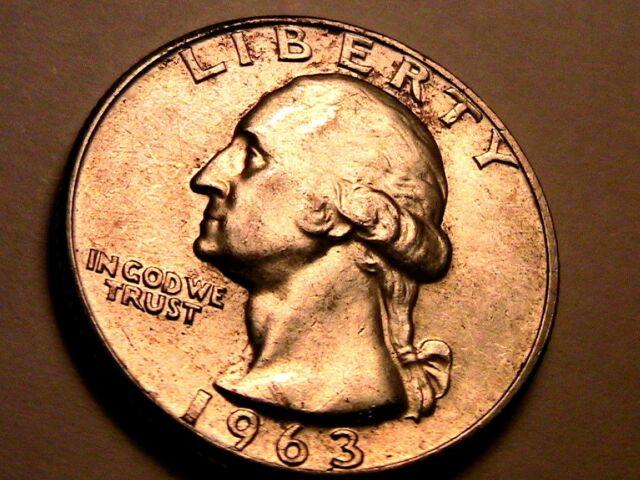 1963-P WASHINGTON 25C Quarter Superb Rim Toned Gem BU 25 Cent Silver Coin