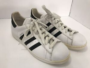 39981f554 Adidas Campus SK Mens Sz 11.5 US White Leather Classic Tennis ...