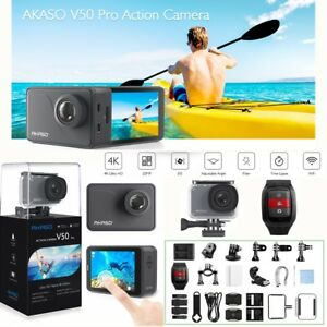 AKASO-V50-Pro-Ultra-HD-4K-30fps-20MP-WiFi-Action-Camera-EIS-LCD-Touch-Screen-New