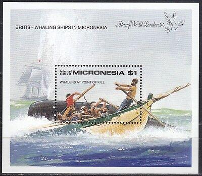 Effizient Mikronesien / Micronesia Bl 182** 4** Walfangboot