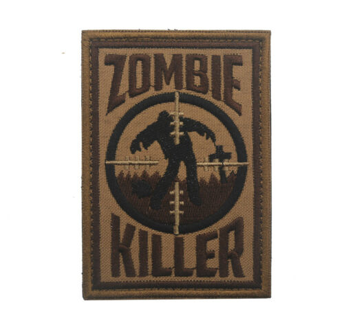 ZOMBIE KILLER Embroidered Military Tactical Hook  Patch Badge