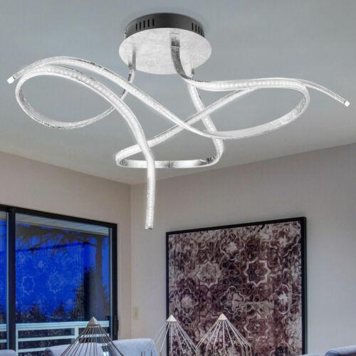 LED Decken Strahler Lampe dimmbar Kristall Design Leuchte Effekt-Folie silber