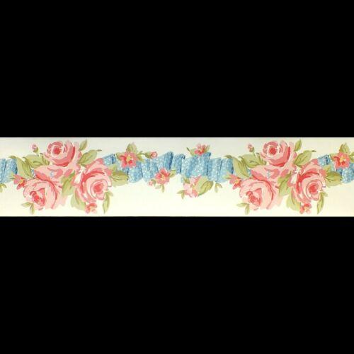 Peint à la main effet Rose Papier Peint Frontière