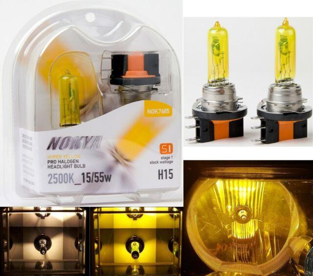 Nokya 2500K Yellow H15 Nok7685 15/55W Two Bulbs Head Light DRL Daytime High Beam