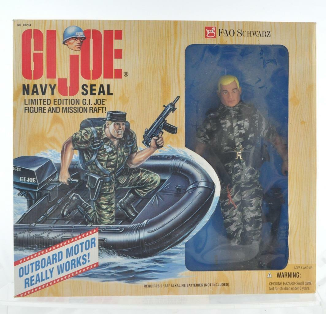 FAO black HASBRO G.I.JOE NAVY SEAL W  MOTORIZED MISSION RAFT MIB