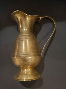 Vintage Pitcher Brass Pitcher Tarnished Brass