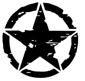 US-Army-estrella-War-Jeep-4x4-USA-Star-pegatina-decal-sticker-vinilo-vinyl