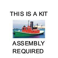 Ho Scale: 81' Great Lakes Steam Tug Boat - Sylvan Kit Ho-1025