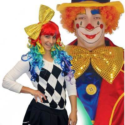 Clown Vest Bow /& Tie Circus Carnival Fancy Dress Up Halloween Adult Costume