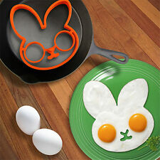 Silicone Rabbit Face Shaped Egg Cooking Molds Kitchen Tools Gadget