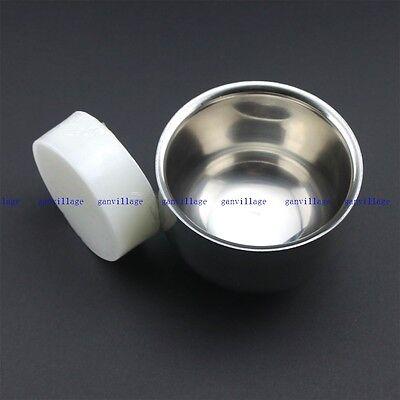 7.2cm Double Layer Stainless Steel Shave Brush Mug Bowl Free Shaving Soap 1.68OZ