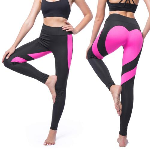 Women/'s High Waist Leggings Sweety Heart Butt Lifting Workout Yoga Capris Pants