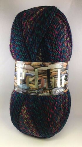Woolcraft Chunky Knitting PEBBLE WOOL 200g BALL 100/% Acrylic PREMIUM QUALITY