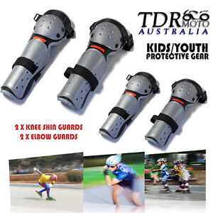 Kid-Skate-Bicycle-Sport-Protection-Gear-4-Piece-Set-ELBOW-KNEE-SHIN-PADS-GUARDS