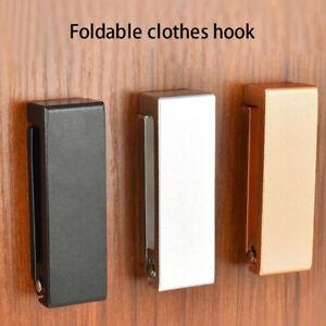 FOLDABLE-WALL-MOUNTED-CLOTHES-HANGER-RACK-TOWEL-COAT-ROBE-HOOK-ALUMINUM-FUNNY