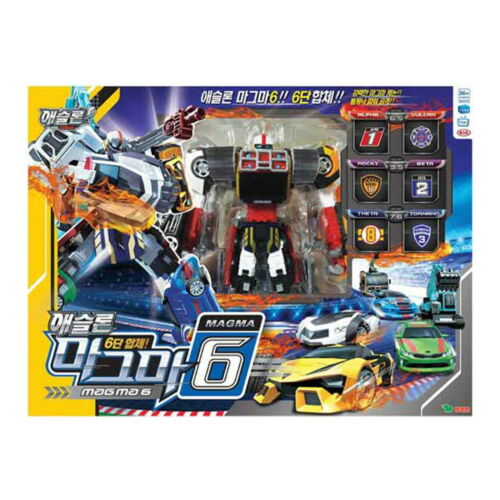 NEW TOBOT ATHLON MAGMA Six 6 Cars Copolymer Transformer Robot Korean TV