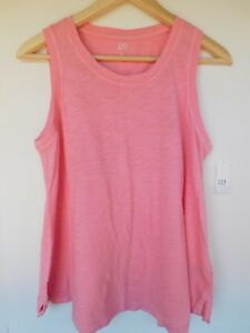 NWT-Gap-Women-039-s-Easy-Swing-Coral-Tank-Top-Round-Hem-X-Small-New-Free-Shipping